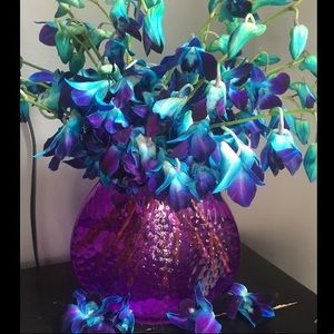 Other - Purple oval glass vase💐